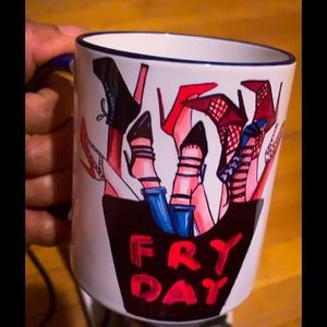 Fry Day, ceramic mug for hot or cold items